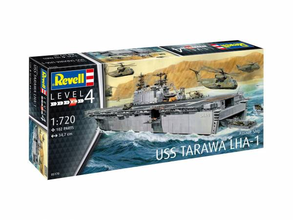 Assault Ship USS Tarawa LHA-1 1:720 05170