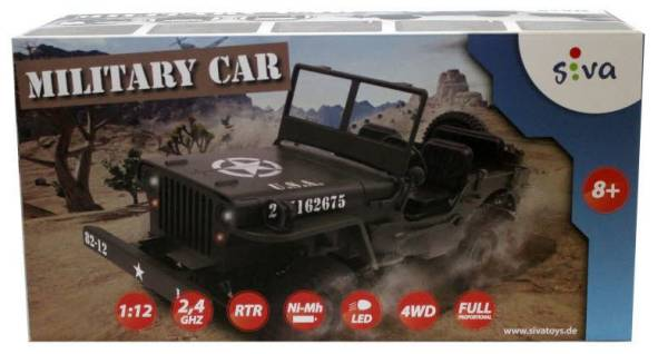 RC Military Car 1:12 GHz 4WD 50375 - Bild 1