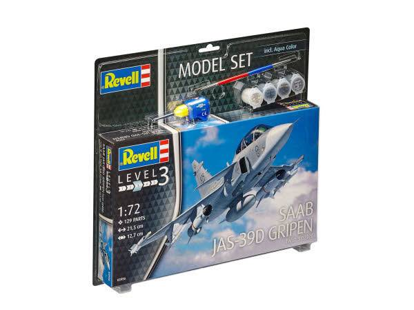 Model Set Saab JAS-39D Gripen 1:72 63956
